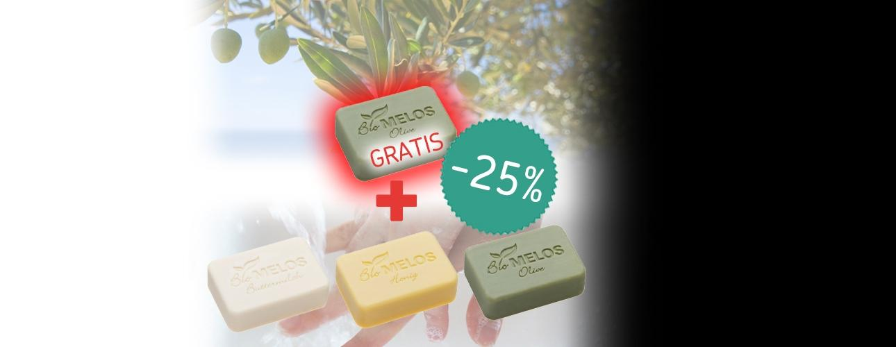 *-25%*komplet BIO mil Melos3+1 GRATIS