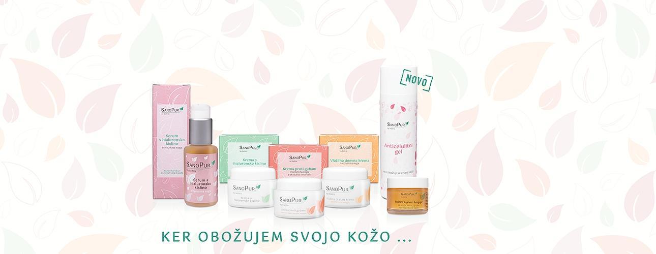 SanoPurnaravni negovalni izdelkiz izbranimi in koži prijaznimi sestavinami