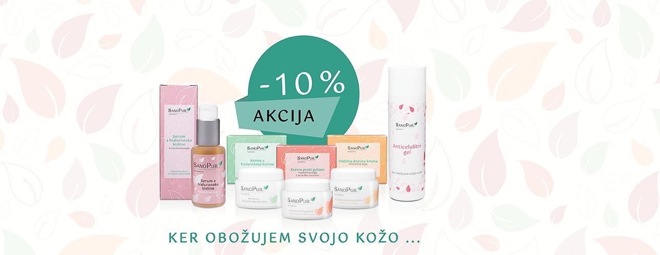 *AKCIJA* -10%SanoPur naravni negovalni izdelkiz izbranimi in koži prijaznimi sestavinami