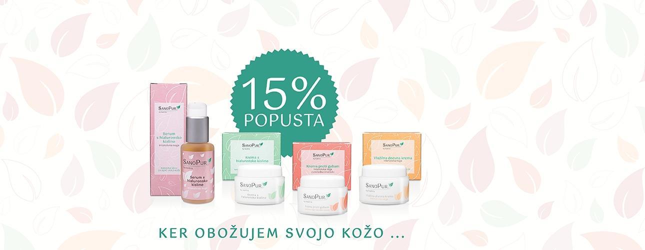 *AKCIJA* -15%SanoPur naravni negovalni izdelkiz izbranimi in koži prijaznimi sestavinami