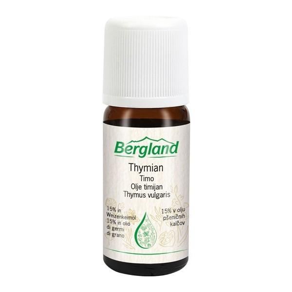 TIMIJAN (Thymus vulgaris) 15 % v olju pšeničnih kalčkov Bergland 10ml