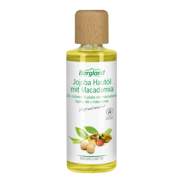 Negovalno olje jojoba z MAKADAMIJO Bergland 125ml